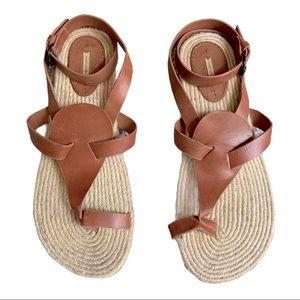Max Studio Espadrille Ankle Strap Sandals Size 9